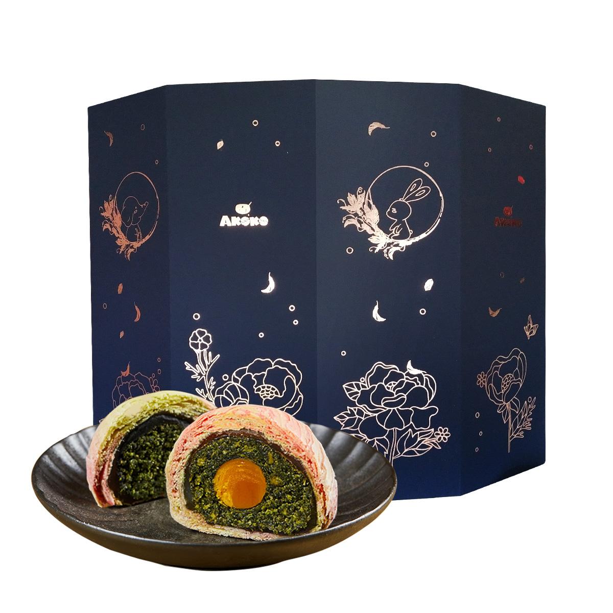 AKOKO五彩海苔蛋黄月饼礼盒,中秋节礼物送朋友
