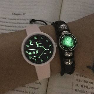 Night watch men and women students Korean version of the simple twelve constellation junior high school students boy fashion wild stone watch