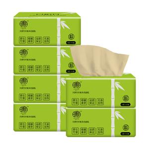 日相月抽纸批发6包竹浆本色餐巾纸家庭实惠装面巾纸家用卫生纸巾