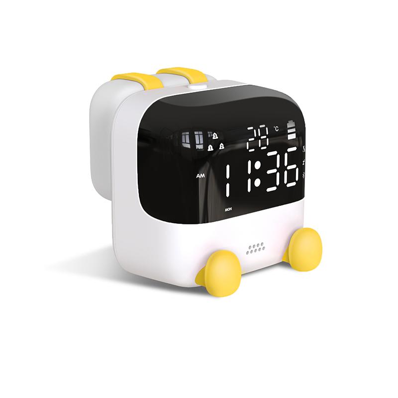 夜灯小闹钟学生用床头创意起床喂奶神器儿童可爱声控电子时钟闹铃