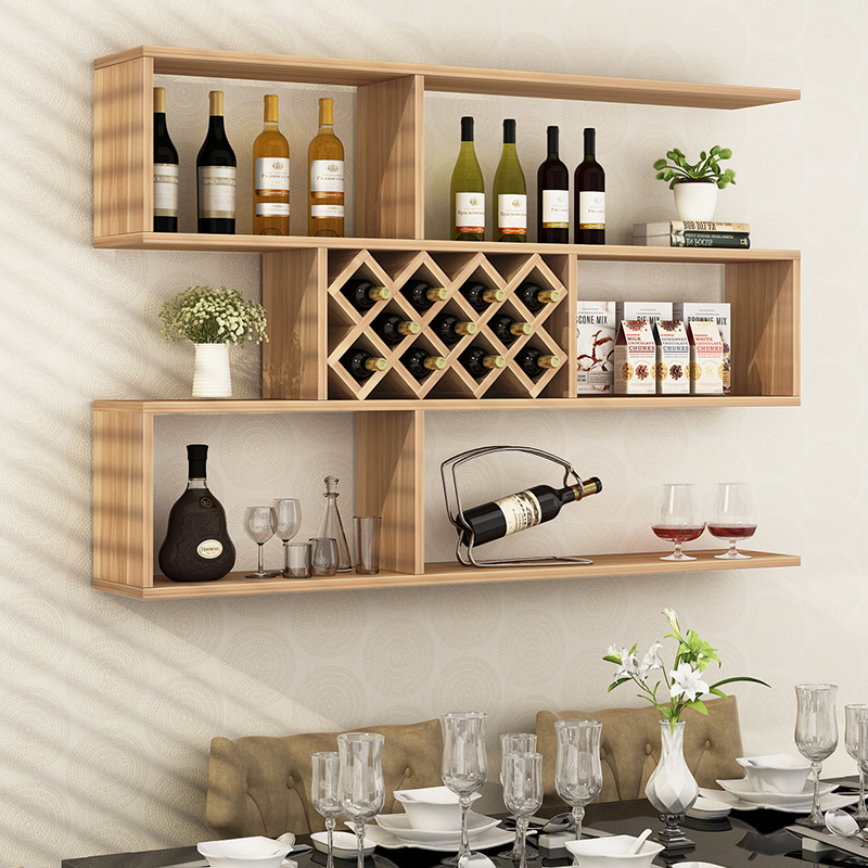 Bon Hanging Wine Rack Creative Wall Mounted Wine Rack Living Room Entrance Wine Cabinet  Hanging Cabinet Racks Hotel Display Cabinet Combination