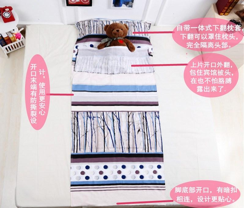 Túi du lịch siêu mỏng cotton ngủ xách tay đôi đơn người lớn trong nhà du lịch trong nhà cung cấp khách sạn - Túi ngủ