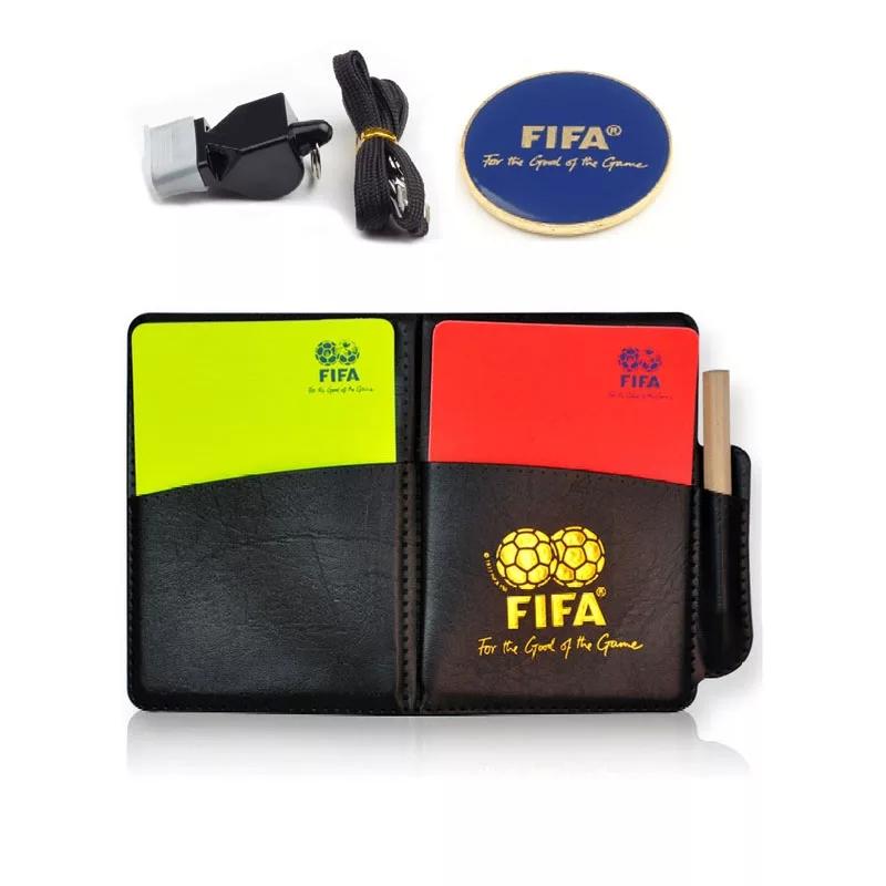 Футбольный судья красный Желтые карточные игры для свистеть комплект Профессиональное оборудование для судей бесплатная доставка по китаю