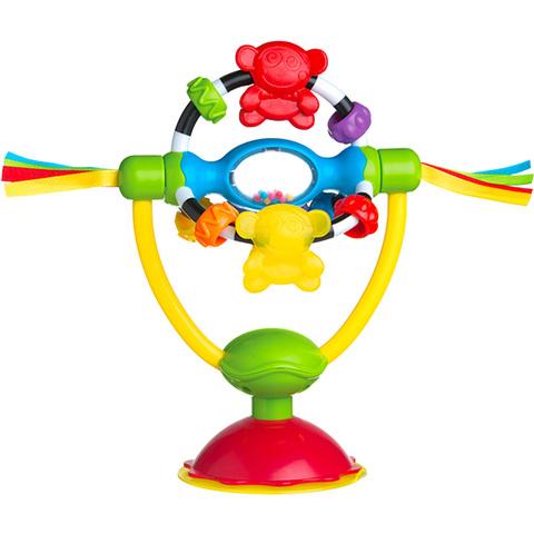 派高乐婴幼儿童餐椅吸盘玩具 0-3-6月宝宝摩天轮益智牙胶摇铃玩具