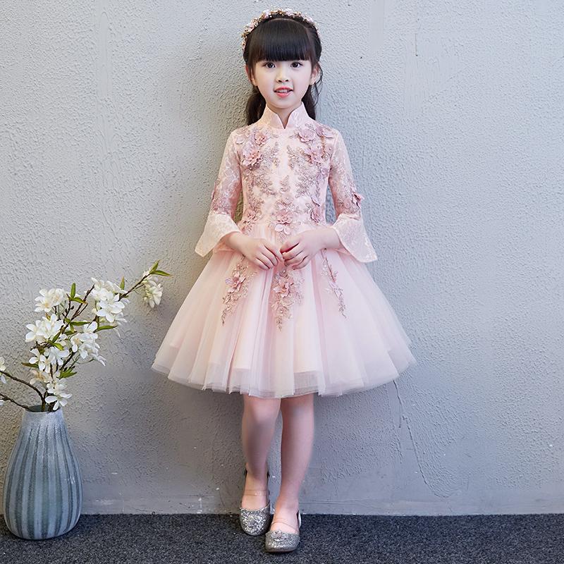 Девушка для маленькой принцессы юбка на девочку Хозяин фортепианного костюма детские Свадебное платье цветочное платье пушистое вечернее платье