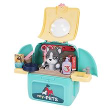 儿童过家家养宠物玩具书包仿真猫咪太空包4女孩5礼物3-6岁男