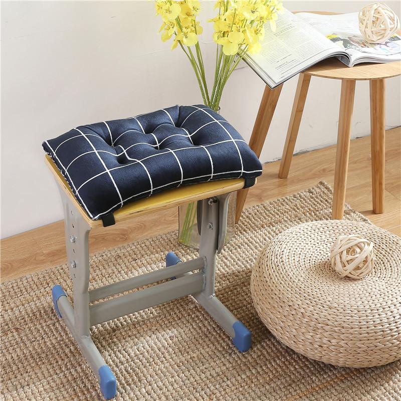 Đệm tiểu học và trung học lớp học đệm mềm dày mẫu giáo ghế đệm quần áo nhà máy băng ghế hình chữ nhật mông đệm - Ghế đệm / đệm Sofa