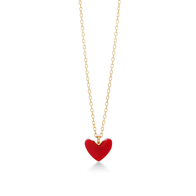 kids jumbo heart for pendant necklace mynamenecklace ie red product