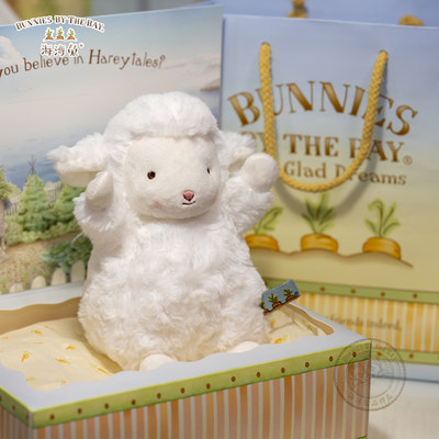 American Bunnies by the Bay Little Sheep Doll Doll Gifts Sitting On Wool Toy Bay Rabbit