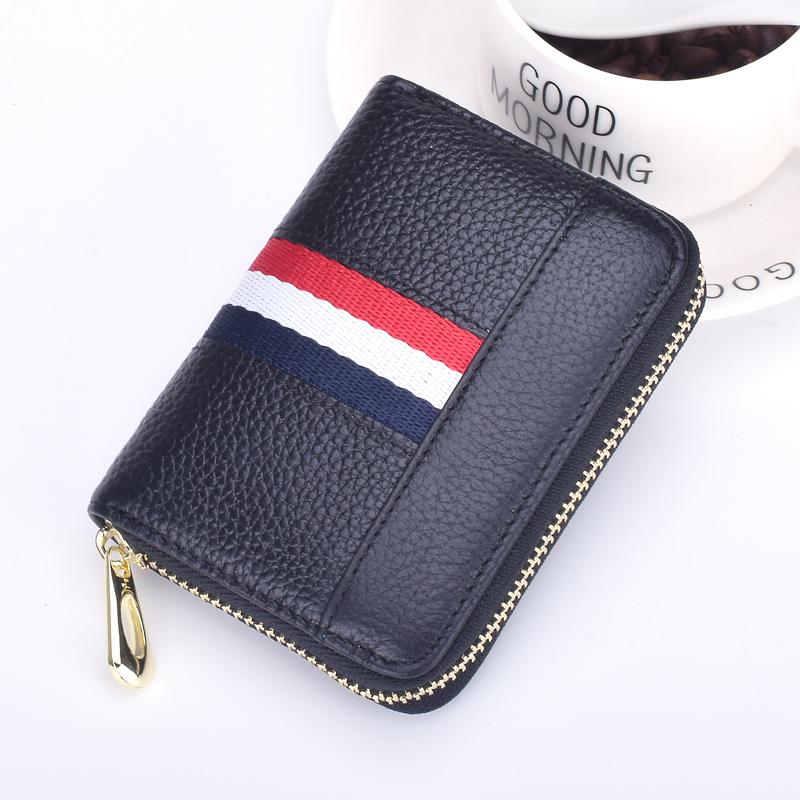 小卡包女式真皮多卡位卡片包韩国可爱个性迷你拉链风琴卡包零钱包