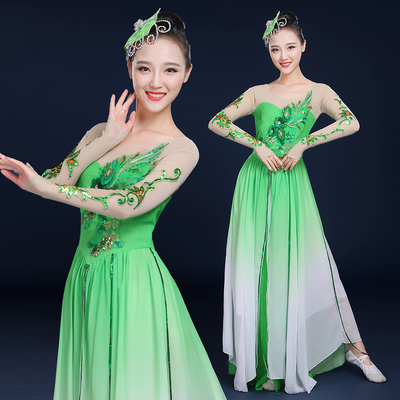 Chinese folk dance costumes for women Classical dance performance dress elegant modern Jasmine Dance Costume square dance suit female
