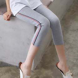 Seven-point leggings women's outer wear summer thin section 7-point pants modal summer wild cotton stretch was thin summer