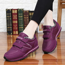 Mama cotton shoes women's waterproof sneakers in the elderly walking shoes non-slip elderly shoes soft bottom old Beijing cloth shoes women