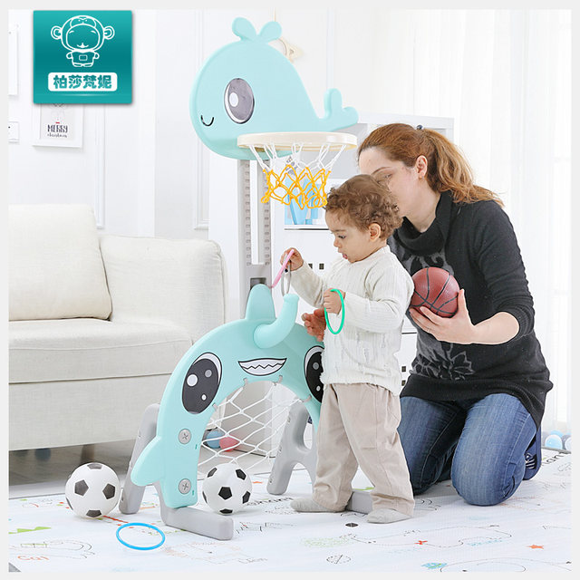 Children can lift small household indoor basketball shooting frame children baby basket Football outdoor sports toys