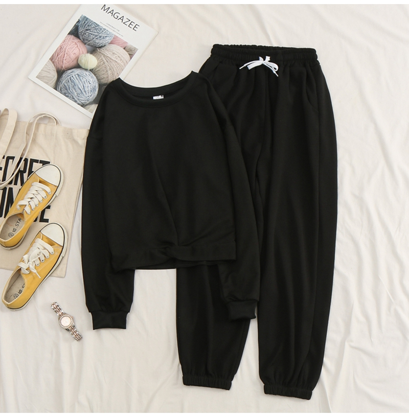Net-a-Go sports suit women's autumn 2020 new Korean version of loose fashion style air-reducing thin casual two-piece set 42 Online shopping Bangladesh