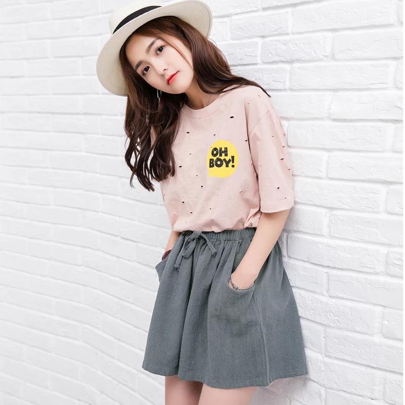 【网红同款】ins超火高腰棉麻短裤