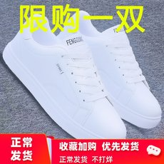 2019 new small white shoes men's shoes spring and autumn warm cotton shoes men's Korean trend casual shoes men's tide shoes