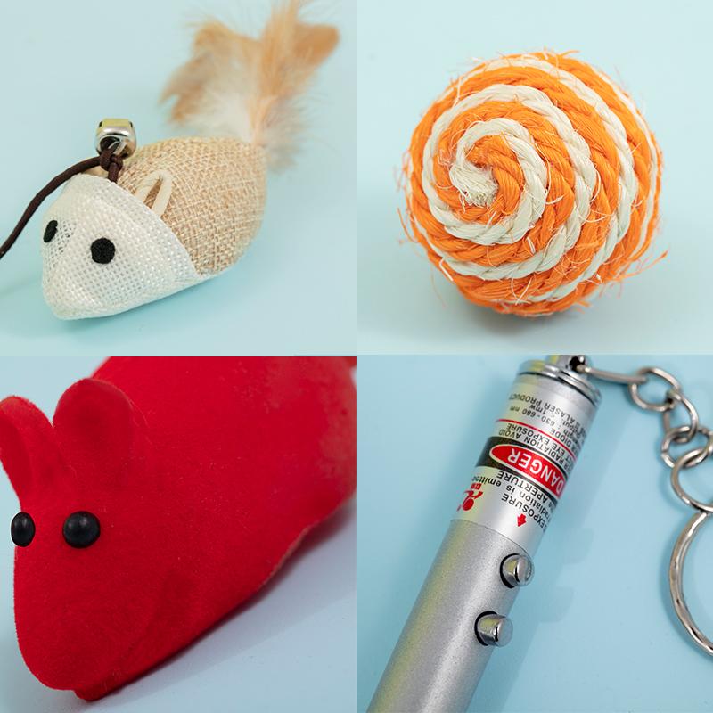 猫玩具套装自嗨激光逗猫棒幼猫羽毛铃铛组合小猫磨牙猫咪用品全套