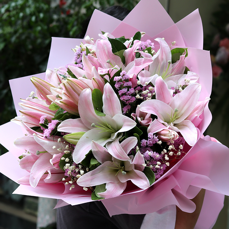 Image result for lilies bouquet  for birthday