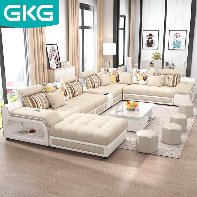 2019 метров наука и технологии ткань современный простота большой небольшой квартира ткань диван сочетание нордический гостиная ткань диван
