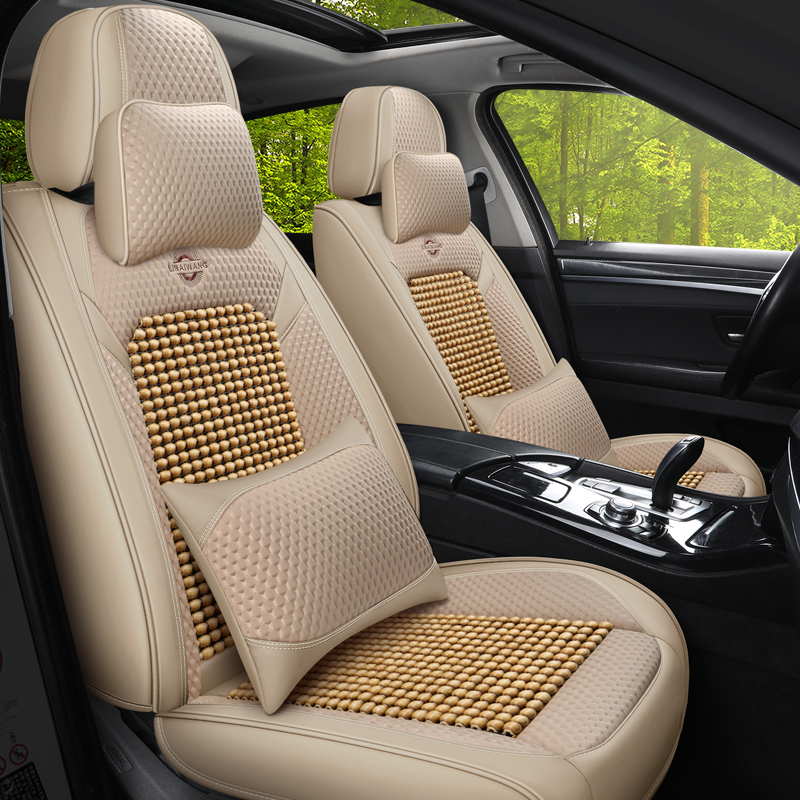 Car cushion summer universal seat cushion wooden beads car cushion full surround seat cover Car special seat cover summer