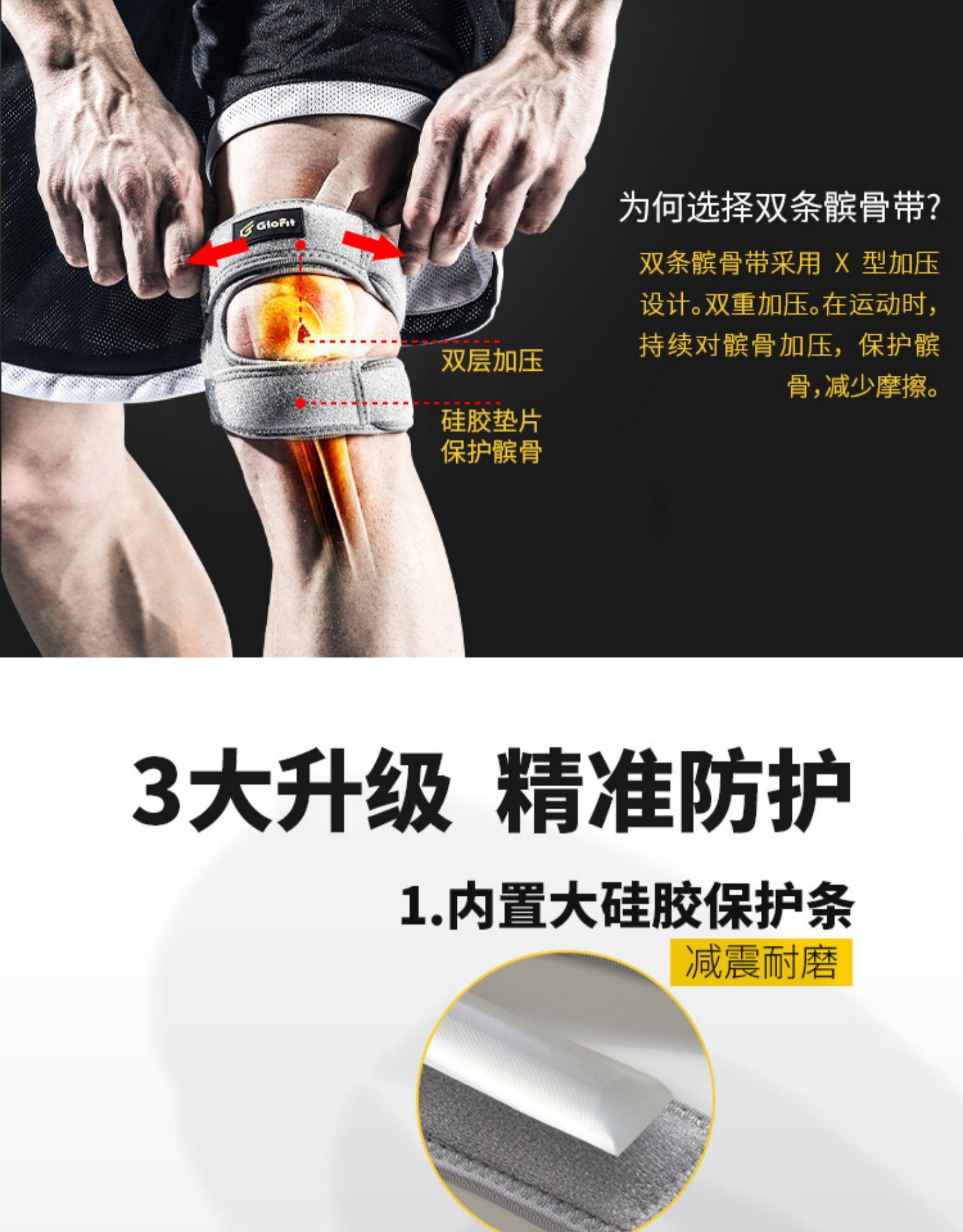 Glofit 专业运动级 双重加压髌骨带 单只 保护膝盖半月板 券后38元包邮 买手党-买手聚集的地方
