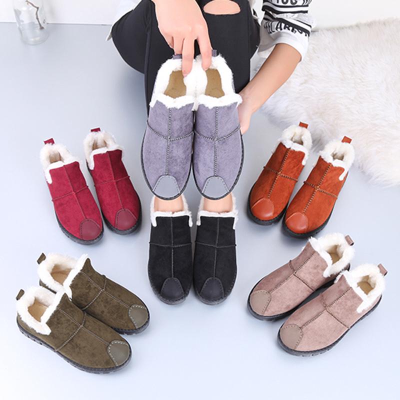 诗迷奇加绒豆豆鞋女冬季2017新款韩版学生鞋百搭原宿保暖棉鞋十字