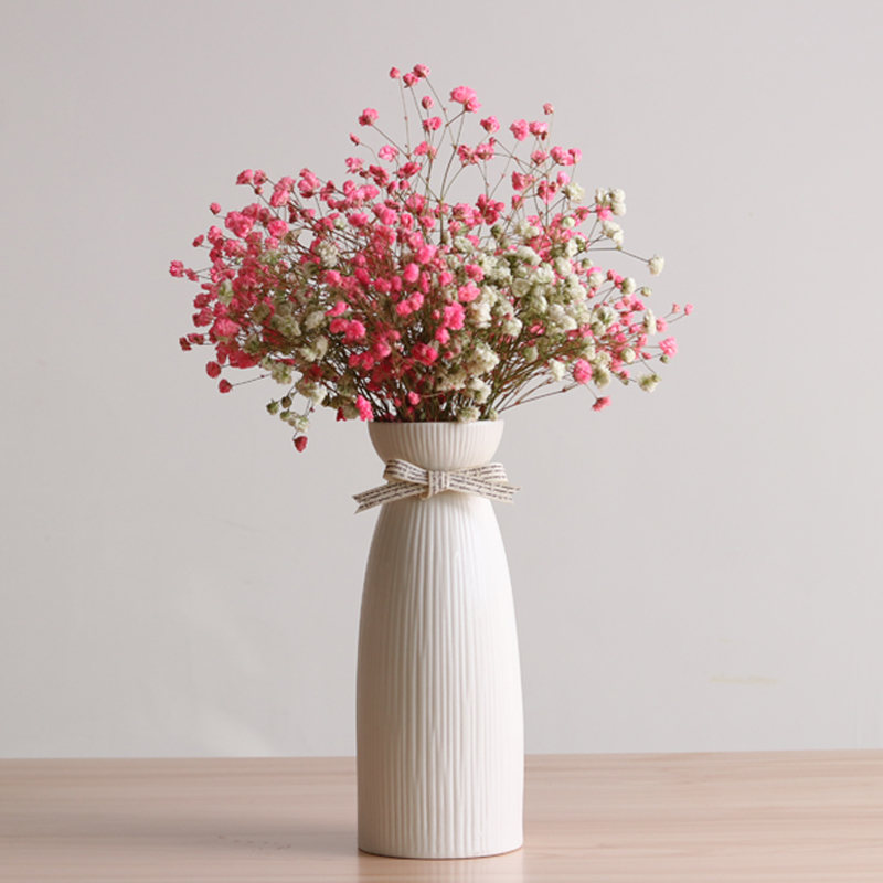 Gypsophila Dried Flower Vase Decoration Creative Home Living Room