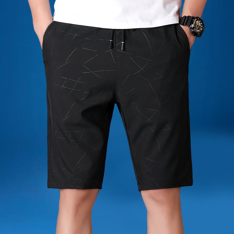男士短裤夏季大裤衩简约纯色潮流韩版薄款沙滩宽松运动休闲五分裤