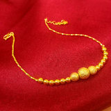 24K golden feet female new tax-free 999 full gold pure gold scrub transfer beads do not fall color to send women friends gift