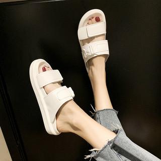 Женская обувь,  2020 новый лето чистый красный в этом же моделье движение ins волна может мокрый вода прохладно шлепанцы женщина верхняя одежда модные женщины ученый толстая корка, цена 404 руб