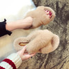 Fleece slippers female chic2018 Korean version of the new summer wear social shoes fashion autumn pregnant women ins sandals