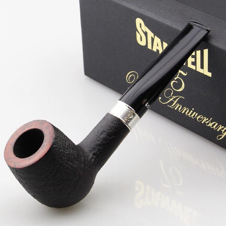 丹麦stanwell史丹威石真皮纯银75周年限量斗楠木斗包9mm烟斗88