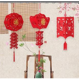 中国风DIY创意手工大红灯挂饰