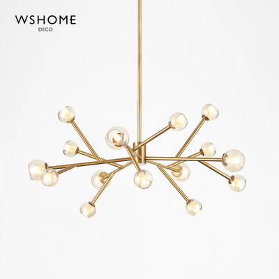 Nordic modern creative branches Restaurant chandelier simple modern personality magic bean molecular living room lamp