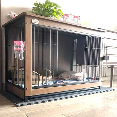 Dog Cage Wood Pet Outline Chai Poodle Medium Small Dog Food Households Take the Toilet Separate Dog Villa