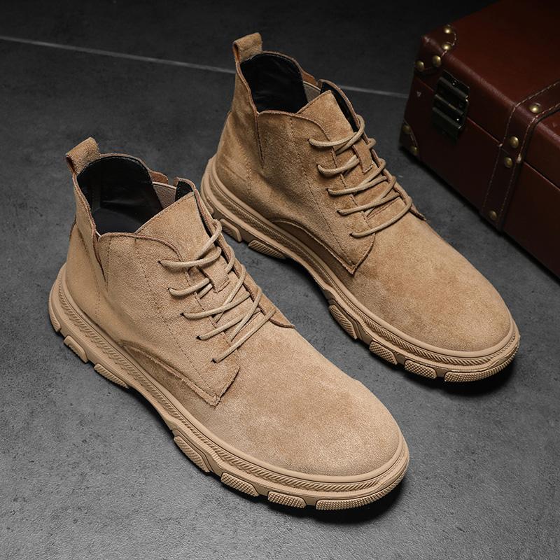 马丁靴男工装男鞋英伦韩版冬季加绒雪地中帮潮鞋高帮棉鞋低帮靴子