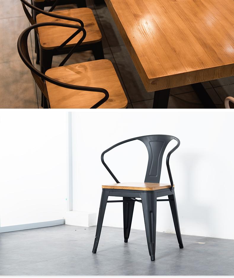 實木會議桌長桌簡約現代辦公桌工業風長條大桌子loft洽談桌椅組合 【拾月生活小鋪 可開發票】