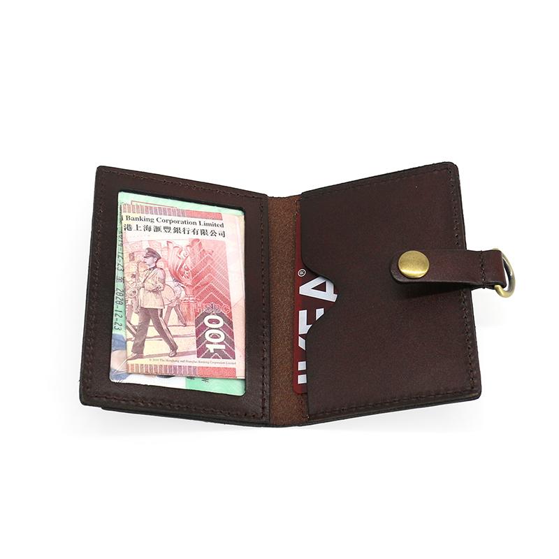 Da thực vật rám nắng lớp đầu tiên da bò nam treo cổ chủ thẻ nữ khóa vòng kiểm soát truy cập gói thẻ làm việc nhóm thẻ tùy chỉnh - Chủ thẻ