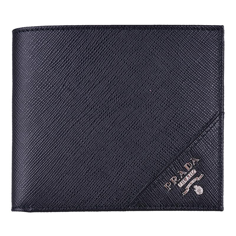Prada/普拉达钱包钱夹短款男士牛皮证件夹2MOMO513QME