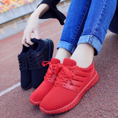 新款情侣网鞋加绒休闲运动鞋