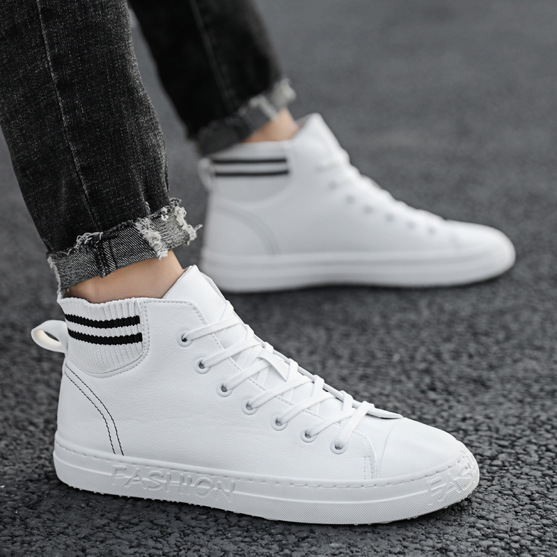 High help men's shoes autumn and winter classic small white shoes 2019 casual sports shoes Korean version of the trend set sock mouth shoes
