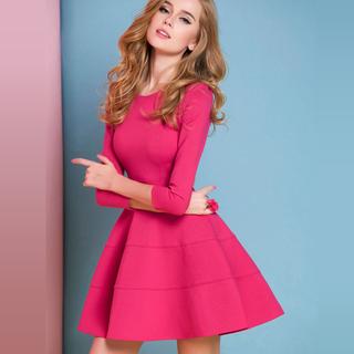 Талия юбки тонкий платье красная роза платье принцессы взрослый темперамент дамы хепберн ветер поддержка маленькое черное платье, цена 3210 руб