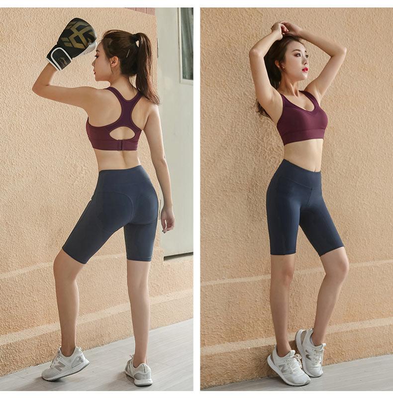 跑步防震健身房运动背心式内衣女大码胖MM瑜伽美背聚拢一体式文胸商品详情图