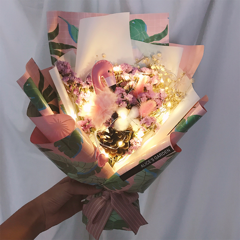 Creative Birthday Gift Handmade Bouquet With Lights Teachers Day Send Girls Classmates Girlfriends Wife Girlfriend Romantic