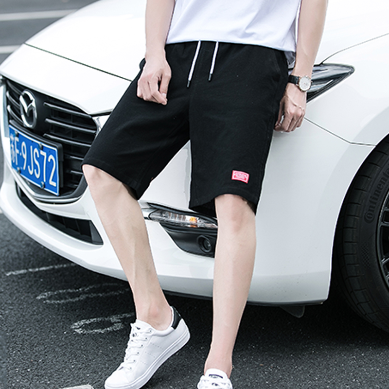 In trunks male summer Han version leisure seven points pants gentleman five point pants loose sand beach pants big underpants tide