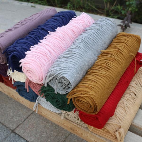 欧洲围巾cashmere阿尔巴斯纯山羊绒波纹女冬季披肩加厚长款水高端