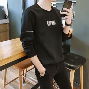 男士长袖T恤秋衣圆领韩版学生卫衣