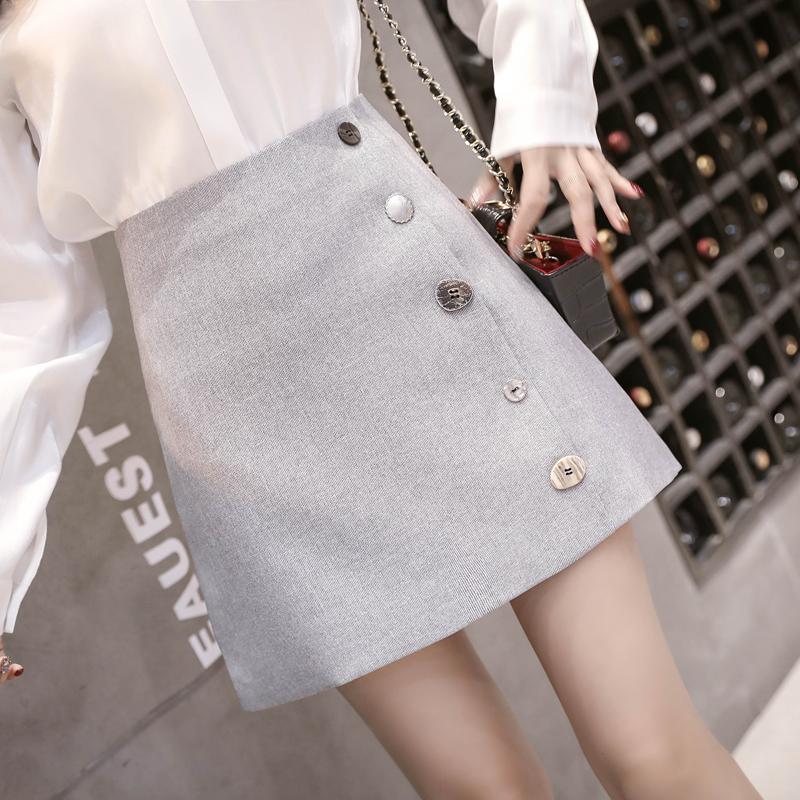 ins超火裙子夏装半身裙韩版排扣显瘦时尚短裙白领气质小香风女装_天猫超市优惠券