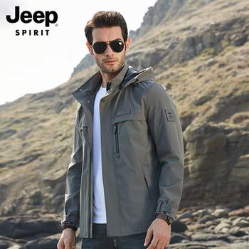 Куртки, ветровки,  Джип весенний и осенний сезон. пальто мужчина 2020 новый velvet грамм мужской случайный свободный осень и зима куртка на открытом воздухе мужской, цена 4159 руб